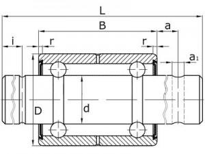 Подшипники шариковые радиальные двухрядные с двусторонним уплотнением с валиком вместо внутреннего кольца